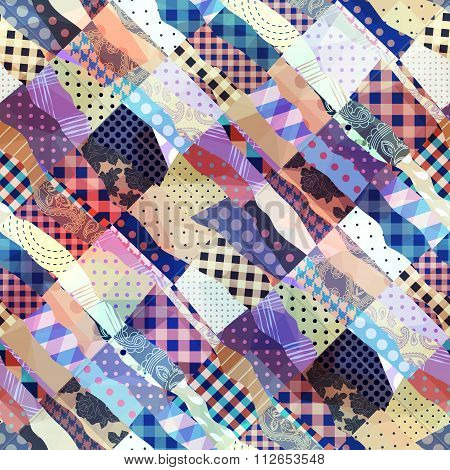 Wavy patchwork background
