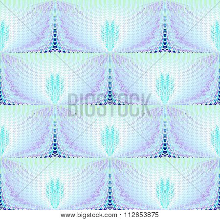 Seamless wave pattern turquoise purple shiny