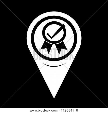 Map Pointer Certified Icon