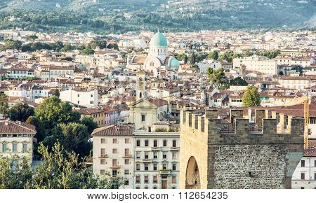 Great Synagogue And San Niccolo In Florence, Italy, Cultural Heritage