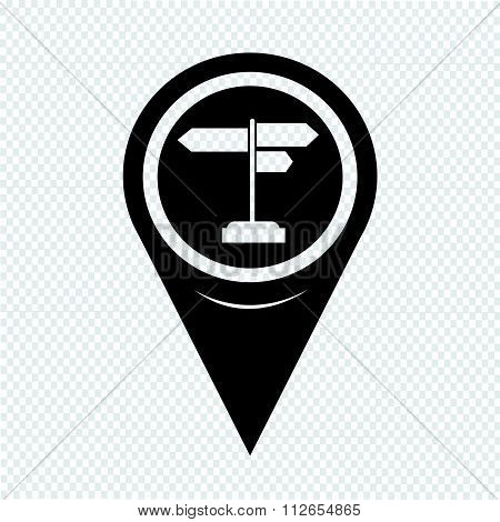 Map Pointer Signpost Icon