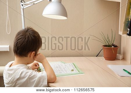 Boy Reading The Book