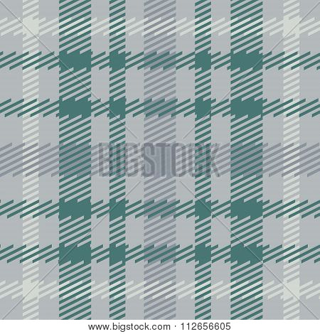 Vector seamless scottish tartan pattern in grey blue green turquoise white.British or irish celtic d
