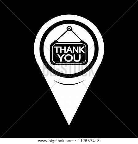 Map Pointer Thank You Icon