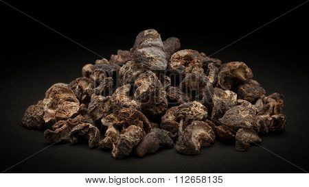 Pile of Organic Dried gooseberry (Ribes grossularia)