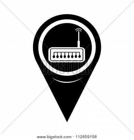 Map Pointer Router Icon