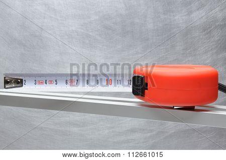 Single red tape measure