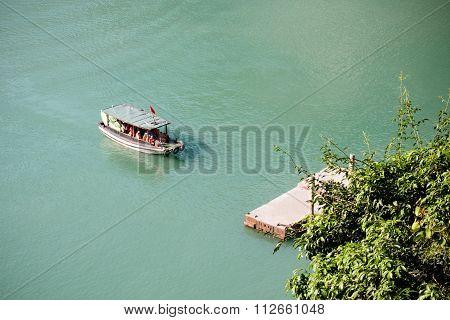Small Boat In Ha Long Bay, Vietnam