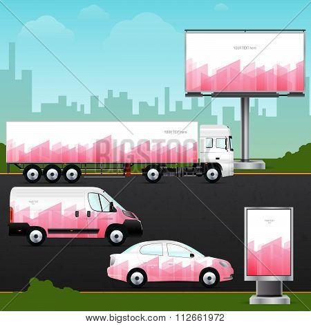 Template vehicle, outdoor advertising or corporate identity.