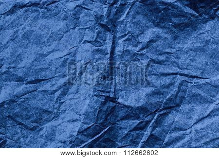 Wrinkled paper surface