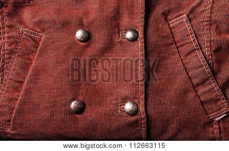Ribbed corduroy fabric