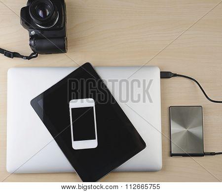 Designer Wood Desk