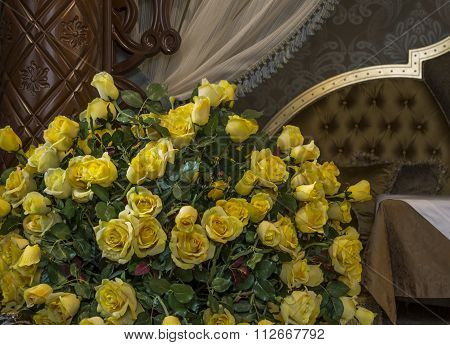 Yellow Rose In The Decoration