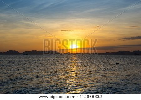 Andaman Sea On Sunset