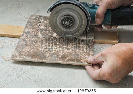 Cutting Corners In The Tile.