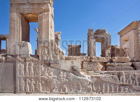 Unesco World Heritage Site, Walls Of City Persepolis, Iran.