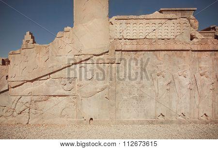 Unesco World Heritage Site, Broken Ancient Palace Of Persepolis
