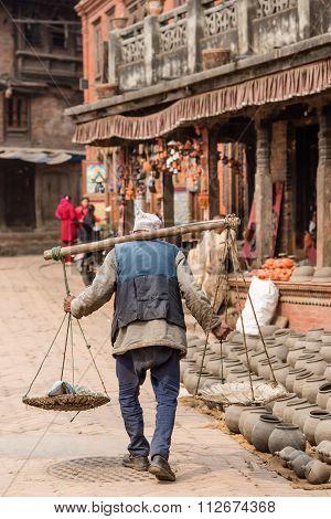 An Elderly Man Bhaktapur.