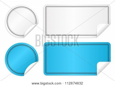Vector illustration of paper stickers
