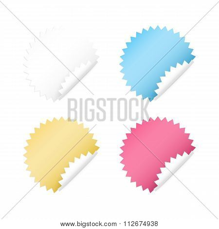 Vector illustration of four Sticker