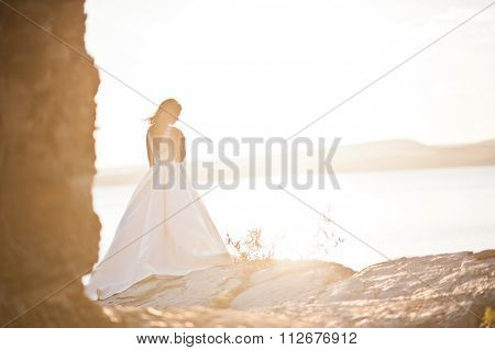 Very Sensual And Gorgeus Bride On The Picturesque Landscapes