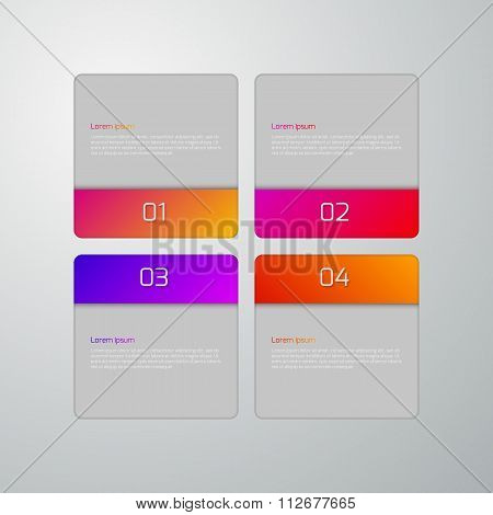 Vector illustration infographics squares