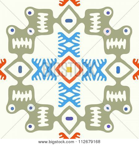 Abstract seamless background, native primitive style