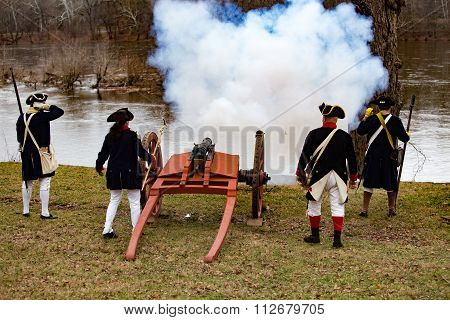 Cannons Fired For General Washington