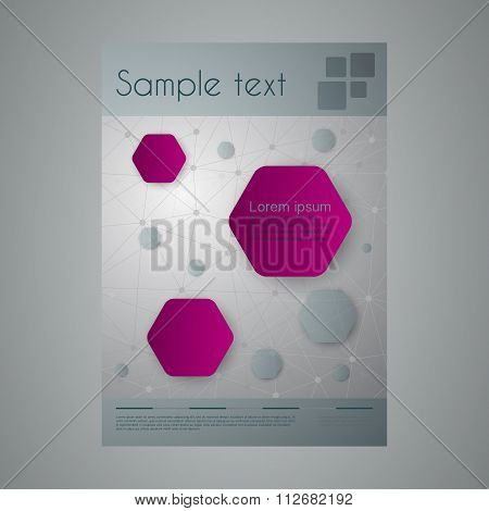 Vector illustration of a business brochure