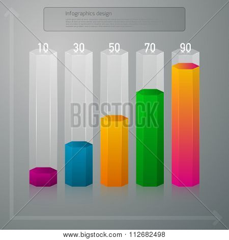 Vector illustration infographics vertical columns