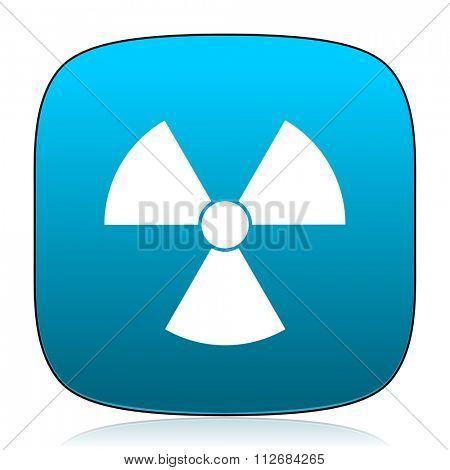 radiation blue icon
