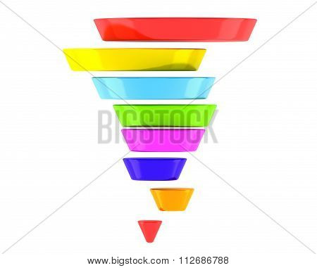 Multicolour Business Infographic Pyramid
