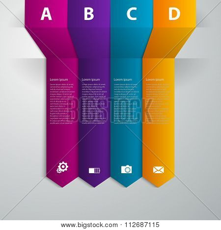 Vector illustration infographics band arrow