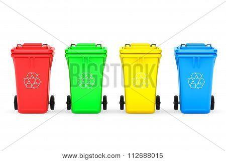 Multicoloured Garbage Trash Bins