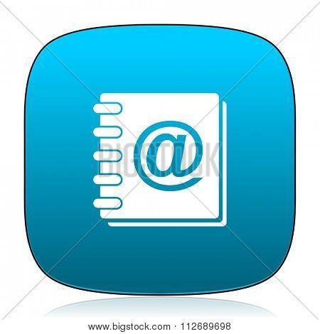 address book blue icon
