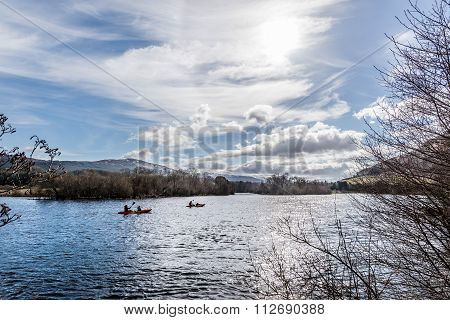 Kayaking On Loch Tay, Scotland