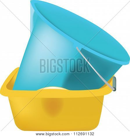 plastic containers for the cleaning