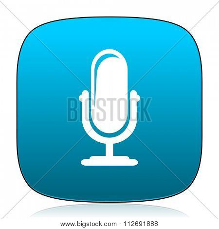 microphone blue icon