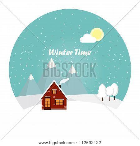 Wonderful Winter Morning Of Christmas.