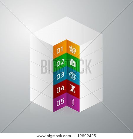 Vector illustration isometric square info graphics