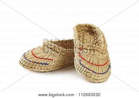 Braided Sandals Isolated On A White Background