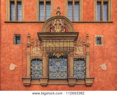 Windows Of Prague Old Town Hall