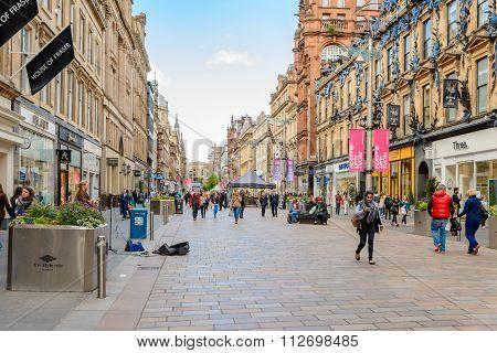 Entrance To Princes Square In Buchanan Street Glasgow