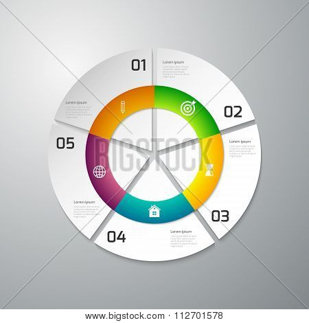 Vector illustration infographics paper circle