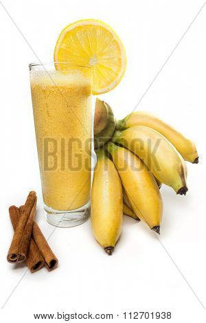 Refreshing  banana  juice with orange
