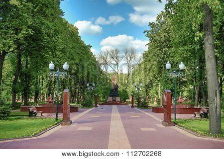 MOSCOW - JUNE 29, 2014: Memorial-park complex Heroes of the Patriotic War of 1812