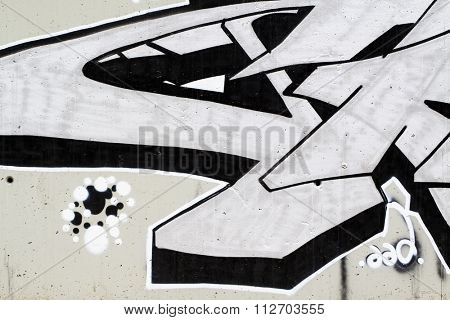 drawings on a wall, segment of a graffiti