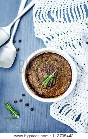 Minced Turkey Liver Souffle Baked In The Oven