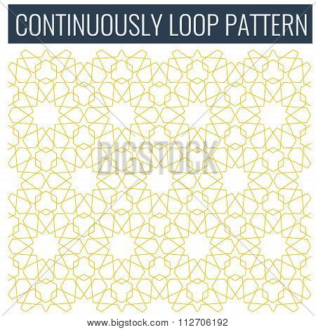 Ornamental seamless loop arabic or islamic geometric pattern tiles.