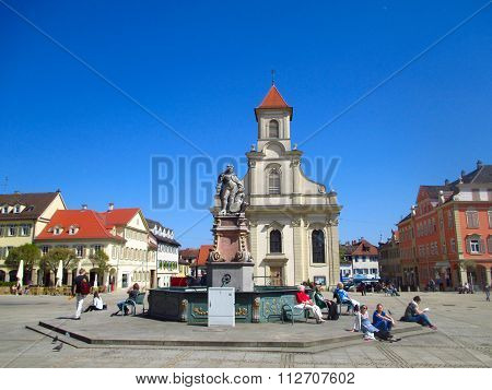 The Main Square Of Ludwigsburg In Germany